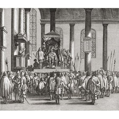 Posterazzi  The Crowning of Charles II At Scone, Scotland In 1651 Charles II 1630 to 1685 King of England, Scotland & Ireland From The Book Short History of The English People London 1893