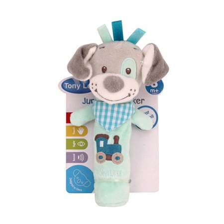 Baby Lathe Hanging Ring Animal Rattle Crib Hanging Baby Stroller Hanging Toys Teethers Stuffed Doll,Puppy Style