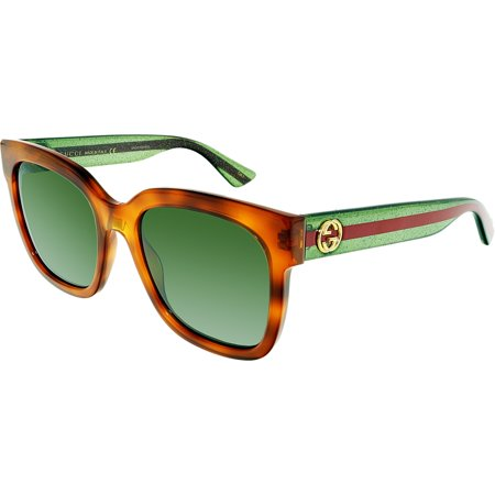 GG0034S-003-54 Brown Square Sunglasses