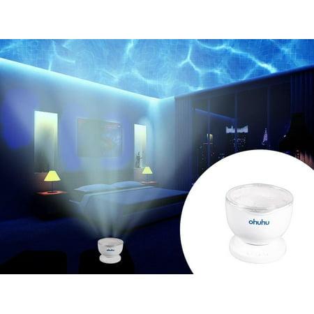 Ohuhu Ocean Wave Projector LED Night Light Sea Daren Romantic Relaxing Lamp Speaker Music Player](Halloween Night Ocean Park)