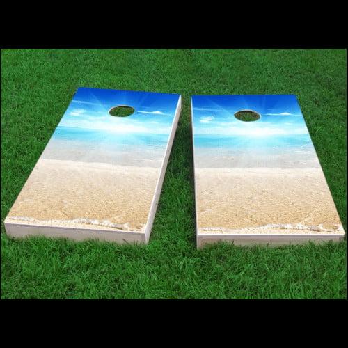 Custom Cornhole Boards Beach Sun Cornhole Game (Set of 2) by Custom Cornhole Boards
