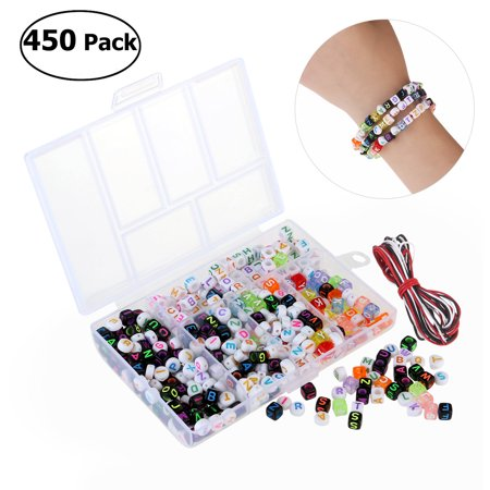 WINOMO 450pcs Acrylic Beads Toy DIY Jewelry for Children Necklace / Bracelet Crafts DIY Beads Children's Educational -