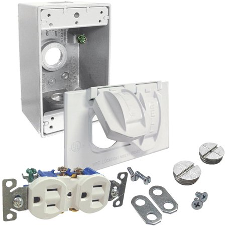 Hubbell White Receptacle Kit (Universal Receptacle Kit)