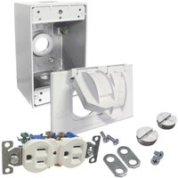Hubbell White Receptacle Kit 5839-6WRTR