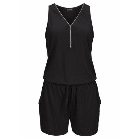 Womens Sleeveless V Neck Casual Mini Playsuit Ladies Jumpsuit Summer Beach  Dress - Walmart.com 315b5162f