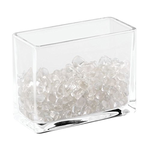 InterDesign Bella Cosmetic Organizer with Decorative Glass Beads to Hold Makeup Brushes, Lipstick, Mascara, Eyeliner - Clear