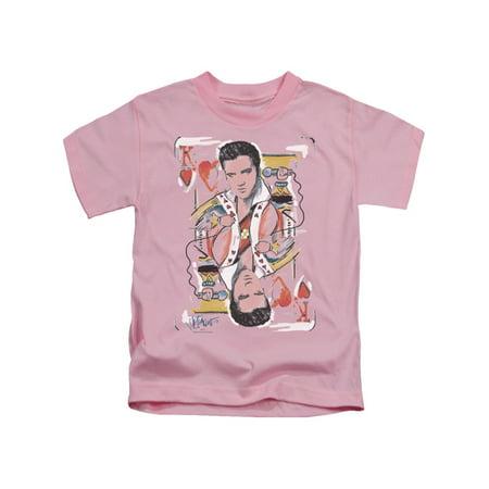 67b5181ce60 Elvis Presley The King Rock King Of Hearts Little Girls T-Shirt Tee -  Walmart.com