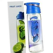 TureClos 800 Milliliter Fruit Infusing Water Bottle with Fruit Infuser and Flip Lid Lemon Juice Make Bottle