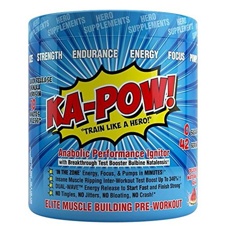 KA-POW! The Fastest Hitting ANABOLIC PREWORKOUT On The Planet -Powerful Androgenic Triggers, Nitro Pump Precursors, and Dual Wave Energy Release for NON STOP Performance - Works in Minutes! 42