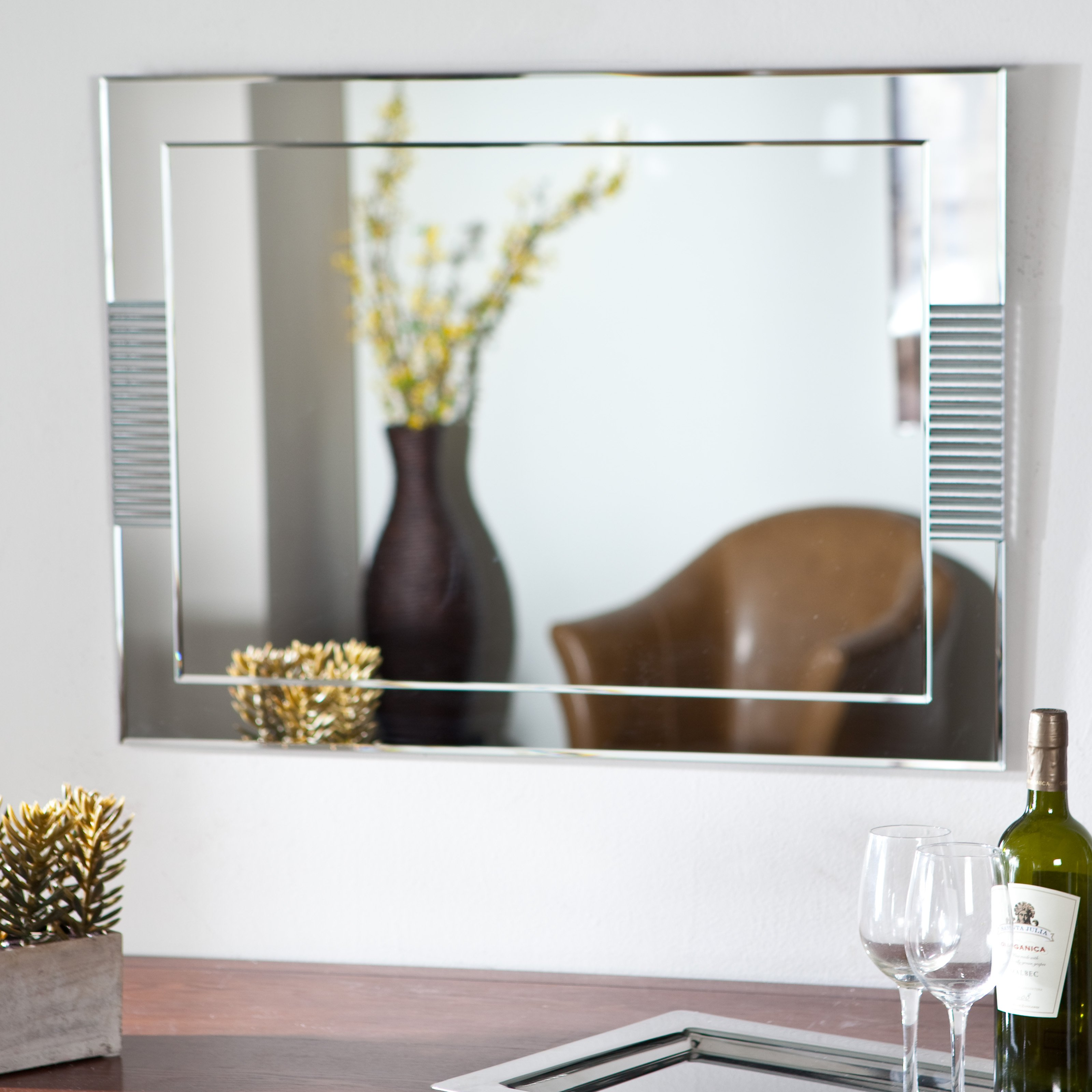 Décor Wonderland Francisca Large Frameless Wall Mirror - 23.6W x 31.5H in.