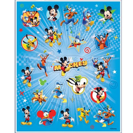 Mickey Mouse Sticker Sheets, 4ct - Blank Sticker Sheets