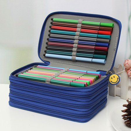 2e5f1e421b06 Pencil Case ,Multifunction Large Capacity Stationary Bag Makeup Cosmetic  Pen Box with Zipper Portable Travel Storage Organizer Holder,for 72pcs ...