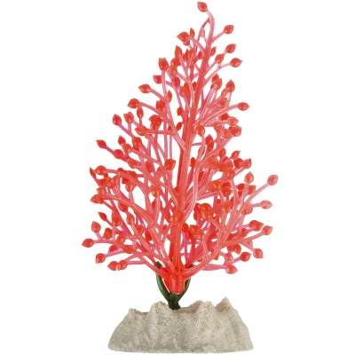 GloFish Orange Fluorescent Aquarium Plant Decoration, Small