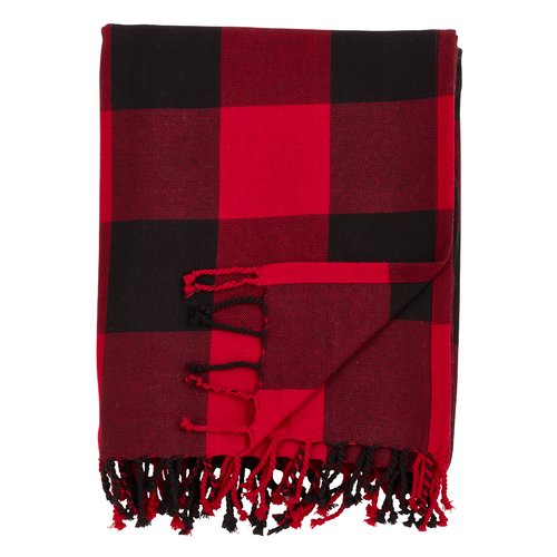 Gracie Oaks Caulkins Buffalo Plaid Cotton Throw