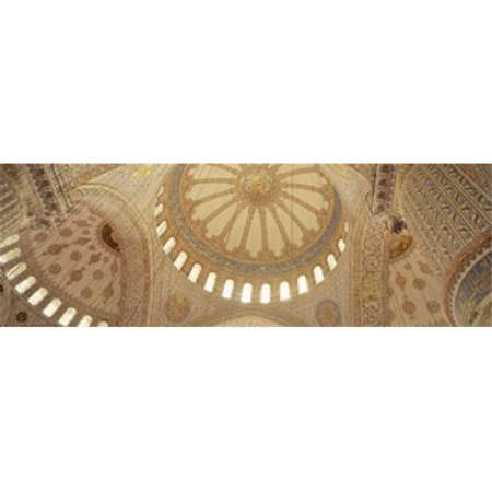 Interiors of a mosque  Blue Mosque  Istanbul  Turkey Poster Print by  - 36 x 12 - image 1 of 1