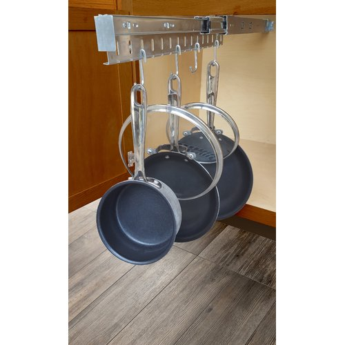 JA Marketing Kitchen Cabinet Pull Out Horizontal Pot Rack