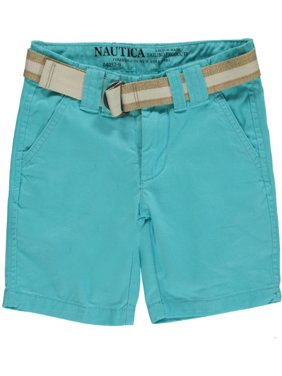 "Nautica Little Boys' ""Bowe"" Belted Shorts (Sizes 4 - 7) - light turquoise, 5"