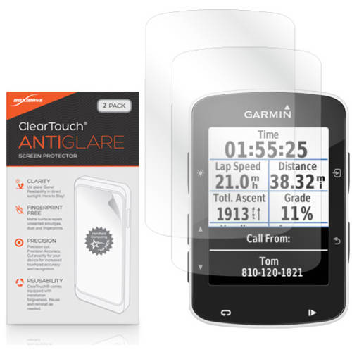BoxWave ClearTouch Anti-Glare Anti-Fingerprint Matte Film Skin for Garmin Edge 520, 2-Pack