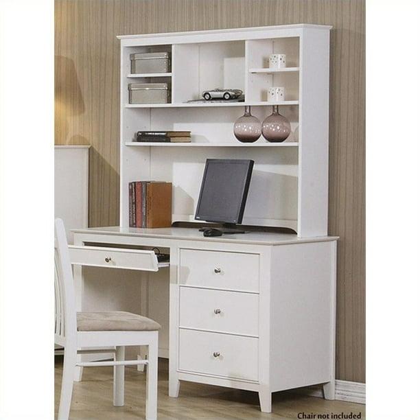 Coaster Selena Computer Desk and Hutch in White - Walmart.com