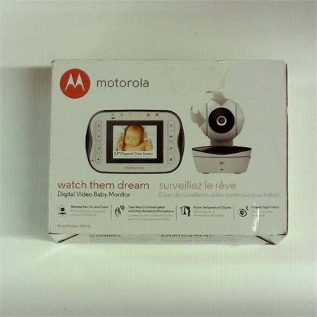 Refurbished Motorola Digital Video Baby Monitor MBP41S with Video 2.8 Inch Color Screen, Infrared Night Vision, with Camera Pan, Tilt, and
