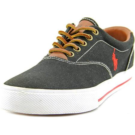 - Polo Ralph Lauren Vaughn Men   Canvas Black Fashion Sneakers