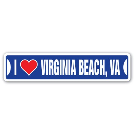 I LOVE VIRGINIA BEACH, VIRGINIA Street Sign va city state us wall road décor gift for $<!---->
