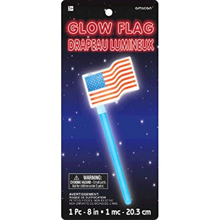 AMSCAN MULTI COLOR, 9.6 X 4.3 STAR SPANGLED FOURTH OF JULY PARTY OLD GLORY AMERICAN FLAG GLOW STICK - Star Glow Sticks