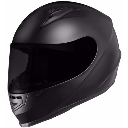 GLX Full Face Motorcycle Helmet Street Sport Bike DOT Approved + 2 Visors (S, Matte Black)