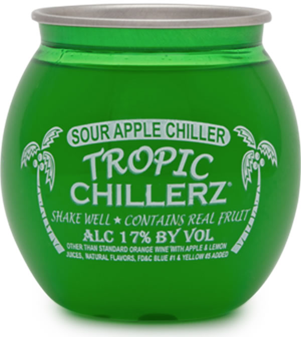 Tropic Chillerz Sour Apple Cocktail,  187 mL