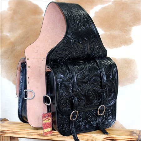Tucker Trail Saddles - Hilason Western Floral Acorn Tool Leather Cowboy Trail Ride Saddle Bag