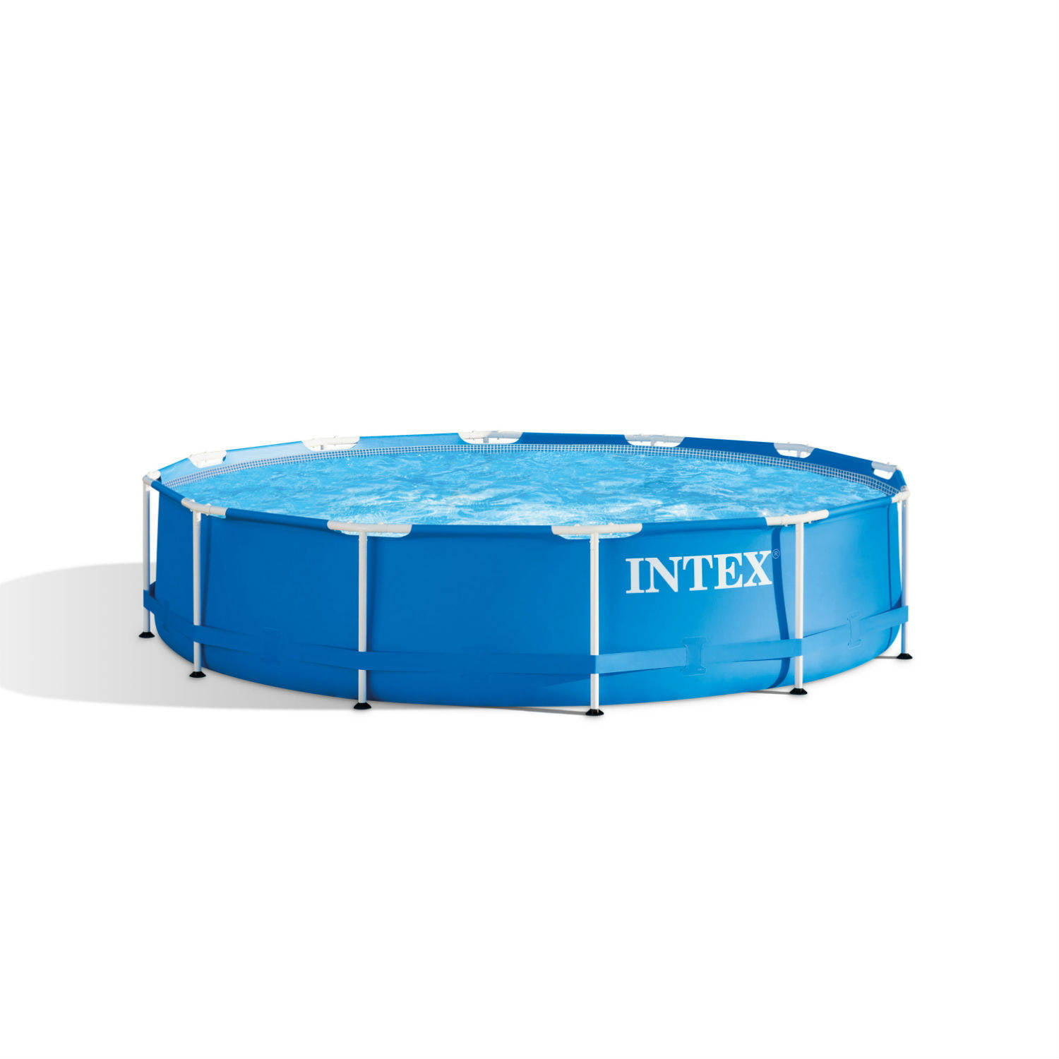 "Intex 12' x 30"" Metal Frame Above Ground Pool with Filter Pump"