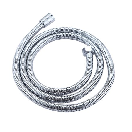 BATH SHOWER HEAD HOSE PIPE STAINLESS STEEL CHROME BATHROOM PRESSURE MIXER FLOW