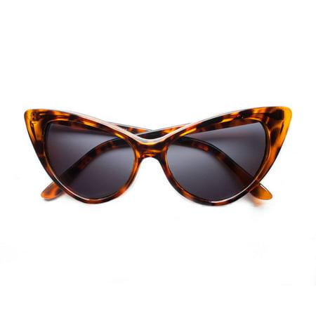 Polarized Cat Eye Sunglasses Womens Retro Vintage Classic 60s - 60s Fashion Ideas
