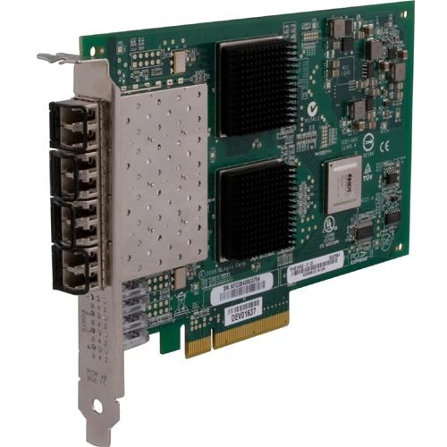 QLogic QLE2564 Fibre Channel Host Bus Adapter. 8GB Quad Port FC HBA PCIE8 LC MULTIMODE Optic FIBR-C. 4 x LC - PCI Express 2.0-8 Gbps