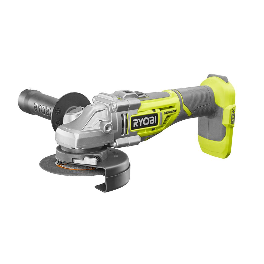 Ryobi 18-Volt One+ Cordless 4-1 2 in. Brushless Cut-Off Tool Angle Grinder (Tool Only)... by