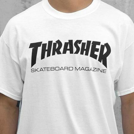 6c338c9260d2 Thrasher - Thrasher Skate Mag SS Tshirt White Black XXL - Walmart.com