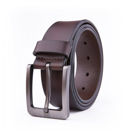 Dress Belt Men, 1.5 Wide Real Leather Classy Comfy Casual Belts For Men - Brown