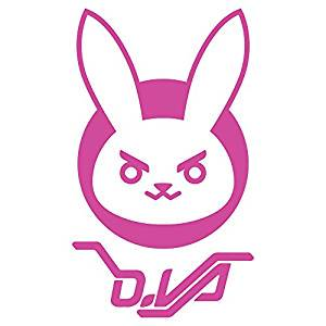 Sticker Overwatch D Va Logo Window Die Cut Vinyl Decal