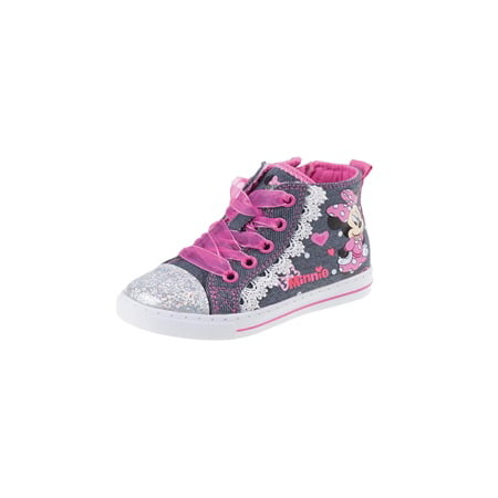 Josmo Girls Minnie Mouse Hi-Top, BLUE/PINK](Minnie Mouse Toddler Shoes)