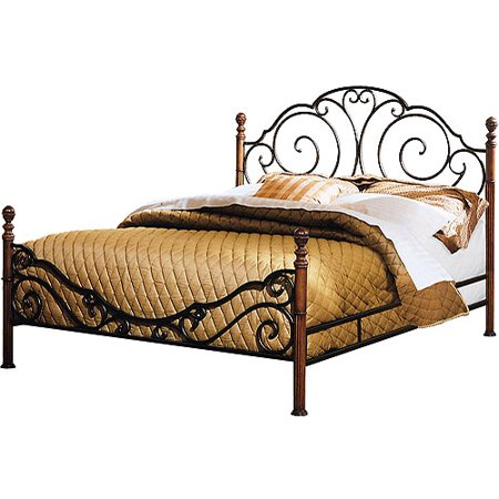 adison metal bed king. Black Bedroom Furniture Sets. Home Design Ideas