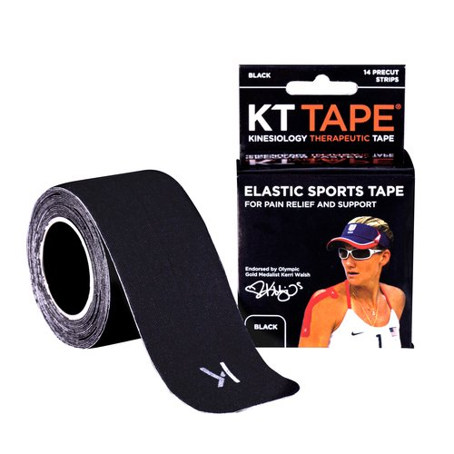 KT Tape Professional Sports Tape, 14 Strip, Black