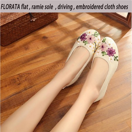 FLORATA Women's Classic Pointy Toe Ballet Flat Comfort Soft Suede Ballerina Slip On Flats Shoes