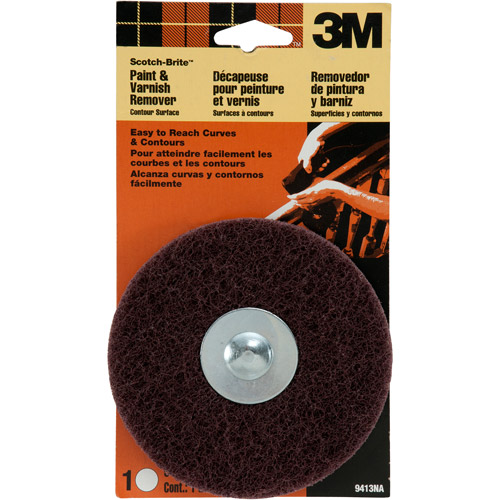 3M Scotch-Brite Paint and Varnish Remover Contour Surface, 6/case