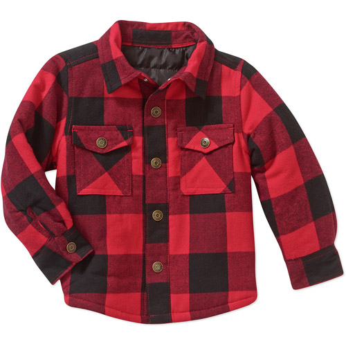 Healthtex Baby Toddler Boy Quilted Flannel Shirt Jacket - Walmart.com