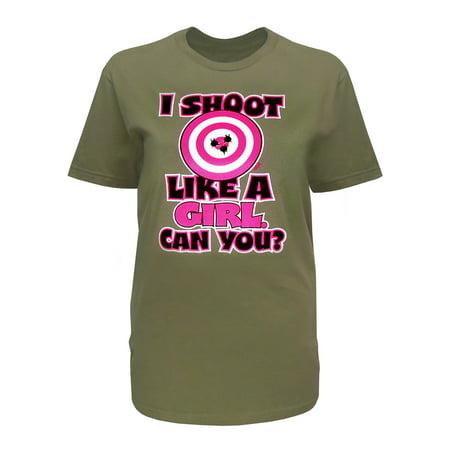 Zone Apparel Hunting and Outdoor Women's Unisex Shoot like a Girl T-Shirt](Zoe Girls)
