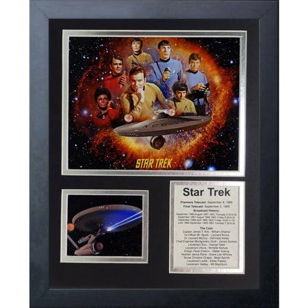Legends Never Die Star Trek Tv Framed Photo Collage, 11 x 14