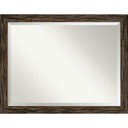 Amanti Art Wall Mirror, Fencepost Brown Narrow - Brown/Grey/White ()