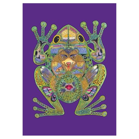 Toland Home Garden Animal Spirits - Frog Flag