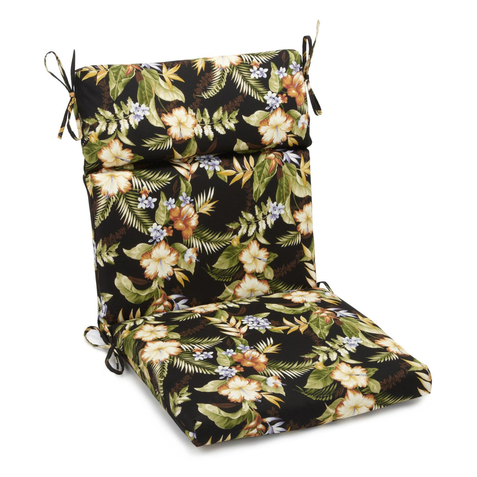 Blazing Needles Outdoor 3 Section 19 X 42 In. High Back Patio Chair Cushion    Walmart.com