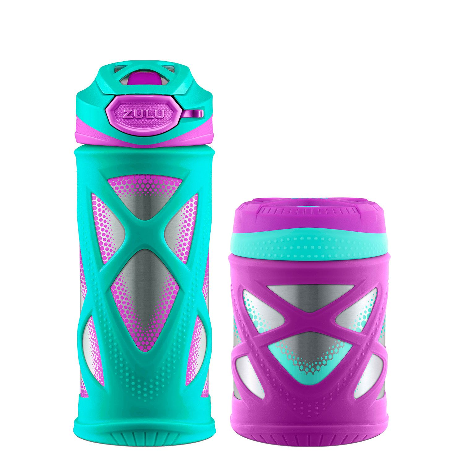 Zulu Kids Water Bottle and Canister Set - Teal